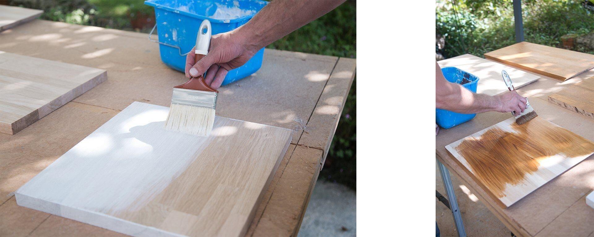 lasure blanche pour meubles best appliquer de la lasure blanche sur une porte et du vernis. Black Bedroom Furniture Sets. Home Design Ideas